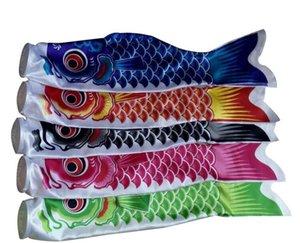 Güzel 70cm Balık Bayraklar Koi Nobori Sazan Rüzgar Çorap Koinobori Renkli Balık Bayrak Duvar Dekor Asma