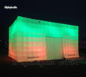 إضاءة في الهواء الطلق نفخ مكعب خيمة مخصصة غطاء حديقة بيضاء منبثقة منبثقة هاى هيكل خيمة للإعلان الحدث والحزب