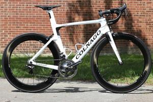 Colnago Chaud Carbon Blanc Terminé Route C50 50mm WheelSet R7010 Mount direct Selle de guidon de Colnago