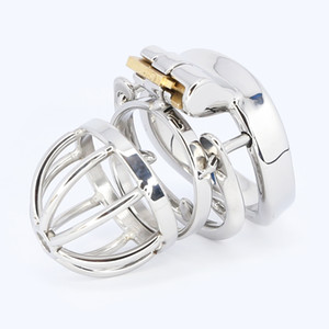 2020 hot Chastity device Stainless Steel super Lockable Penis Cage cock Ring Sleeve Sex Toys For Men MKC064A
