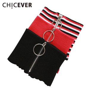 [CHICEVER] Winter Circular Zipper 100% Wool Knitted Warm Ring Choker Scarf Women New Fashion 4 Colors
