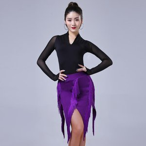 2020 Adult Women Latin Top Skirt Lady Dancing Dresses For Practice Performance Dancewear Costume Ballroom Cha Cha Samba Clothing