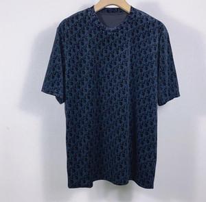 Frühling / Herbst 2020 neuester Französisch Art und Weise 3D Tasche Brief gedruckt T-Shirts Herren-Tuch hohe Qualität heißen Verkauf atmungsaktive Baumwolle seidigen