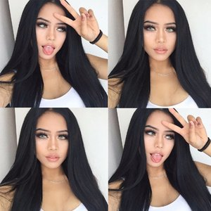 Full Lace Wigs Glueless Silk Wig Full Bead Straight Hair Wigs Front Of Black Women 100% Senior Malaysian Virgin Hair Silk Weaving Wig