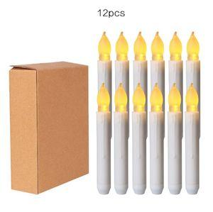 Giallo Mini Battery Operated LED cono candele, senza fiamma Taper Candele Wedding le decorazioni, Natale, Ringraziamento -Batterie non Inclu