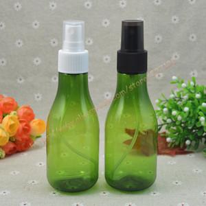 150ml verde / verde en forma de pera helada botella de PET con blanco / negro sprayer.mist botella de PET. viajes envase de perfume recargable