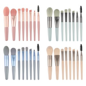 Makeup Professional Set Brush Mini Portable Travel Beauty Tool Loose Powder Eyelash Brush Soft Brush Color Natural