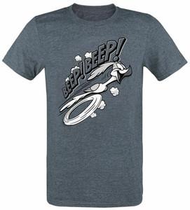 Looney Tunes Roadrunner Beep! Beep! T-shirt chiazzata Navy Tee Shirt trasporto libero della luce