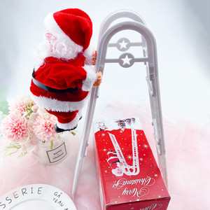 New Christmas Santa Claus Electric Climb Double Ladder Toys Hanging Doll Decoration Christmas Tree Ornaments Kids Gifts CYZ2770 Sea Shipping