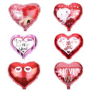 1pc 18 pouces Je te aime Ballon Ballons Décorations de mariage d'amour romantique Coeur hélium Ballon Ballons Party Supplies Anniversaire