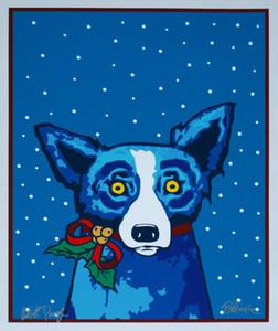 George Rodrigue Mavi Köpek Kağıt Kurdeleler Ve Me Ev Dekorasyon Yağ Tuval Wall Art Kanvas Resimleri Duvar Dekor 200.912 On Boyama