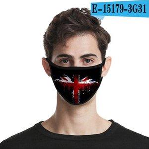 Bouche Lavable Masque d'expédition réutilisable coton face à la conception Er Designer Face Mask Masque Linen # 8y8c