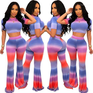 Short Sleeve Fashion Suits Womens Clothing 2 Piece Set Summer Ladies Designer Tracksuits Sexy Striped Printed Hollow Out