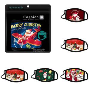Frohe Weihnachten Gesichtsmaske abwaschbar Karikaturbaumwolbeschichtet Mode Gesichtsmasken Außenhandel Weihnachtsmann facemask Printed Ohrart Männer Frauen Maske