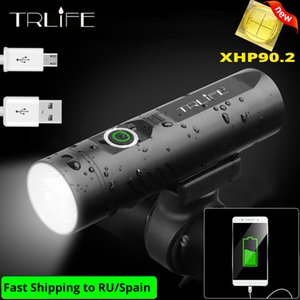 TRLIFE XHP90 자전거 라이트 USB 충전식 LED 5200mAh MTB 전면 램프 3T6 / 3L2 헤드 라이트 초경량 LED 손전등 자전거 라이트 Y200920