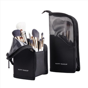 New Makeup Brushes pouch Portable mini trumpet Waterproof Travel Cosmetic Bag Organizer Female beauty Brush storage case