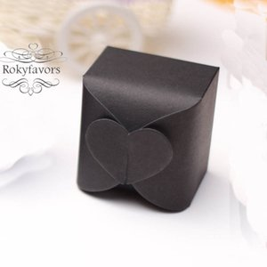 200PCS Mix Paper Boxes Heart on Top Candy Boxes Baby Shower Chocolate Holders Birthday Event Sweet Package Heart Favor Boxes Party Decors