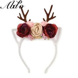 ABDO New Baby Аксессуары для волос Цветок Рога Deco Hairbands для женщин Девушки косплей Christmas Party Headdress Фотография Культур
