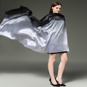 Hijab scarf silk long 180 cm * 110 cm brand shawl wrap women scarves Gradient