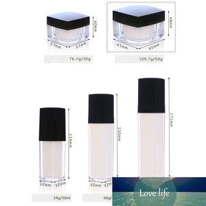Empty Acrylic Pearl White Cream Bottles 30G 50G 100ML Liquid Makeup Bottles for Face Care Eye Foot Mask Lotion Shampoo 100pcs