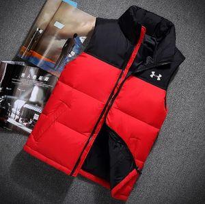 El diseñador francés invierno abajo chaleco táctico clásico pluma Weskit Chaquetas chalecos BASIC Chaleco capa ocasional del Norte Puffer Doudoune Homme S-XXL