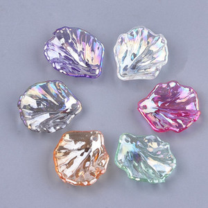 1300+pcs lot Acrylic leaves loose beads for jewelry making DIY pendant for bracelet and necklace 1.2mm aperture