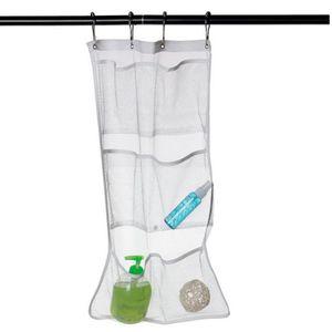 6 Pockets Bathroom Tub Shower Bath Hanging Mesh Underwear Toys Toothbrush Polyester Organizer Caddy Storage Bag Droship #R50