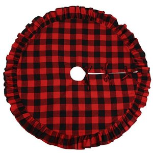 Christmas Christmas For Decor Home Buffalo Layers Hotel 48inch Tree Double Xmas Skirt Plaid Tree Skirt For Red xhhair gMSmu