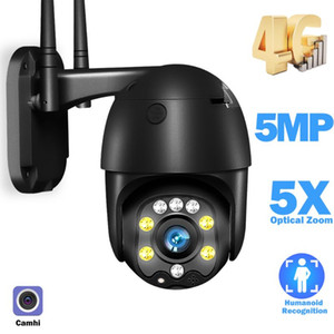 3G 4G SIM Card 5MP IP Dome camera Outdoor CCTV Camera WiFi Smart Home Security 5X Optical Zoom IR 30m Two Way Audio Camhi