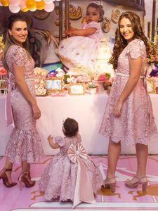2020 Flower Girl Dresses Vintage Jewel Sash Lace Net Baby Girl Birthday Party Christmas Communion Dresses Children Girl Party Dresses