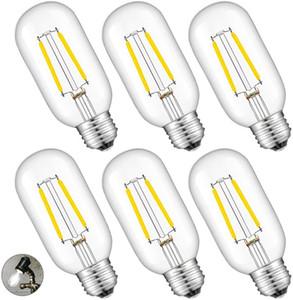 Высокое качество T45 Vintage Эдисон светодиодных лампы, 2W4W6W Светодиодная лампа E26 E27 Средний Цоколь, 400lm, Античный стиль Лампочка