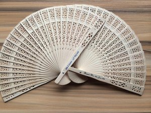 20 customized sandalwood fans cheap wedding favours bridal baby showers gifts