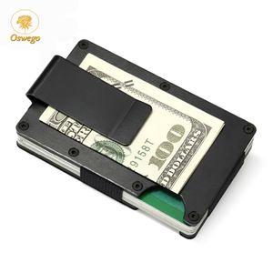 Oswego Men Credit Card Holders Business ID Card Case Fashion Automatic RFID Card Holder Aluminium Bank Wallets 2020 New