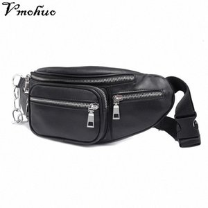 VMOHUO Zipper Waist Pack Bag Unisex PU Leather Shoulder Chest Bags Crossbody Bag Big Capacity Ladies Handbag Fanny Waist Packs EA3t#