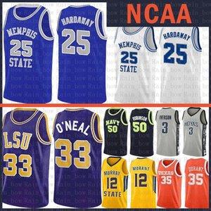 David Robinson 50 État américain universitaire Anfernee 25 Hardaway LSU Tiger College Shaquille O'Neal 32 Basketball Jersey 15 Kawhi Leonard Aztèques