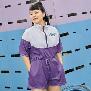 FZ0Lx irmã de gordura solta grandes calças tamanho boxer calças jumpsuit Swimsuit jumpsuit uma peça cQqnA maiô