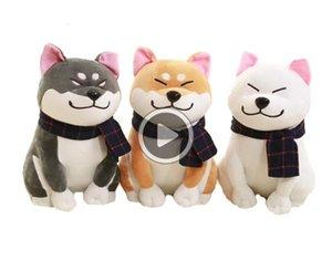 25 centímetros Wear Presente bonito do bebê Cachecol Shiba Inu Dog japonês Boneca Toy Dog Doge Stuffed suave animal brinquedos de pelúcia