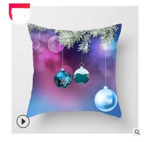 2020 hot sale Home Textiles Popular linen print pillow cover new Christmas ball print pillow cover Pillow Case