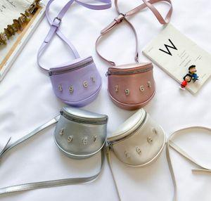 Baby Girls Bag fashion messenger bag children's Number With Rhinestone PU Shoulder accessories bag