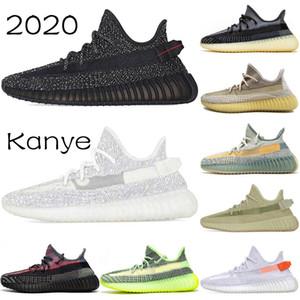2020 Comfort Kanye West Asrlel azufre estático Negro Ángel Desert Sage luz de la cola de la escoria para hombre de los zapatos corrientes de las mujeres Venta Formadores zapatillas de deporte barato