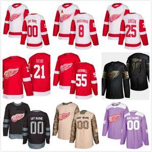 Personalización 2020 Noticias de Detroit Red Wings de hockey jerseys de múltiples estilos para hombre Steve Yzerman modifica cualquier Nombre cualquier número de hockey jerseys