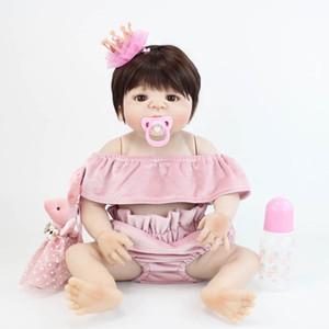 BZDOLL bébé Vinyle silicone Full Body Toy Reborn nouveau-né Princesse Blonde bébés Bébé enfant Bathe Jouet fille cadeau d'anniversaire