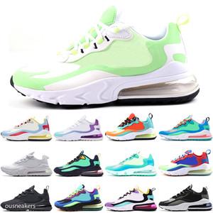 Nike Air Max 270 React Ücretsiz Kargo 2020 Erkekler Eğitmenler Üçlü BAUHAUS OPTİK MAVİ GEÇERSİZDİR beyaz presto kadınlar Doğa Sporları Zapatos ayakkabıları tn Tepki