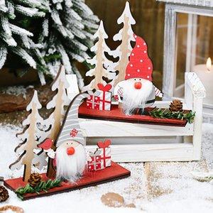 Natal de suspensão decoração em madeira gota pendente enfeites Decoração de Natal Suprimentos 1