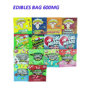 Più nuovo 600mg Edibles Candy Caribo Gusher Gummy Bags Budheads Aid Edibles Packaging Cannaburst 420 Borsa Mylar