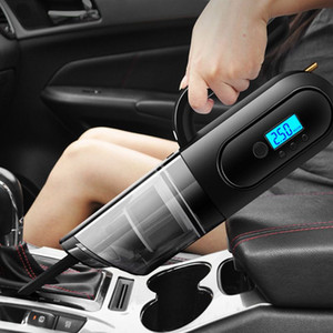Multifunctional Vehicle-mounted Vacuum Cleaner with Air Pump Tire Pressure Monitoring Lighting Portable Convenient Car Vacuum
