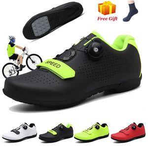 VTT Chaussures de vélo SPD Taquet Pedal Men Outdoor Respirant pas cher Chaussures de vélo de route vélo de course Chaussures de sport Dropshipping