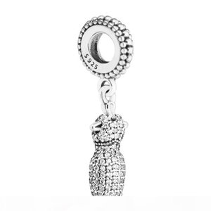 mother's day gift Dazzling Dress Charm must-have dress Beads Clover Charms Fits Designer Bracelet sterling silver jewelry making charms
