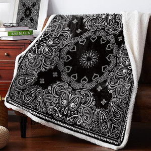 BIGHOUSES coperta del tiro Black Pattern etnica Copriletto Coverlet coperte in pile Gettare copertina personalizzata Wrap Thick