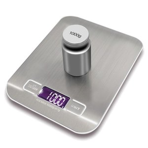 LCD Electronic Kitchen Scales balance Cooking Measure Tools Digital Stainless Steel 10000g 1g digital Weighing Food scale Y200328